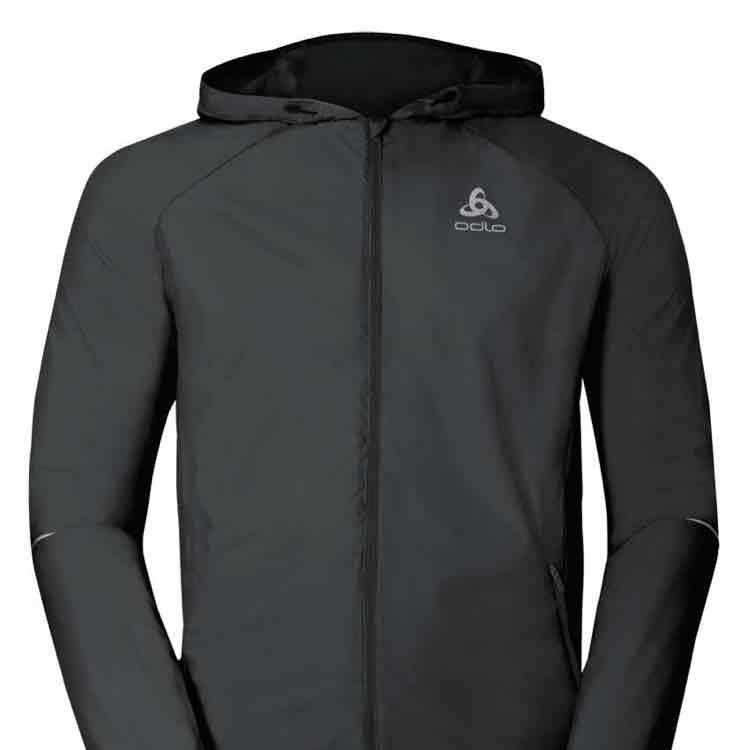 Laufjacke Odlo jacket scutum graphite