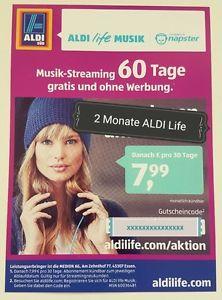2 Monate ALDI life MUSIK - napster - 60 Tage für 3,49€ [VGP: 15,98]