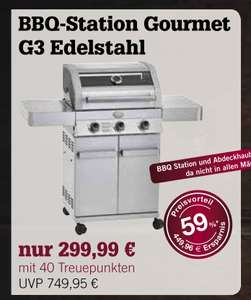 edeka rhein ruhr r sle gasgrill bbq gourmet station g3 edelstahl in der treueaktion f r 299. Black Bedroom Furniture Sets. Home Design Ideas