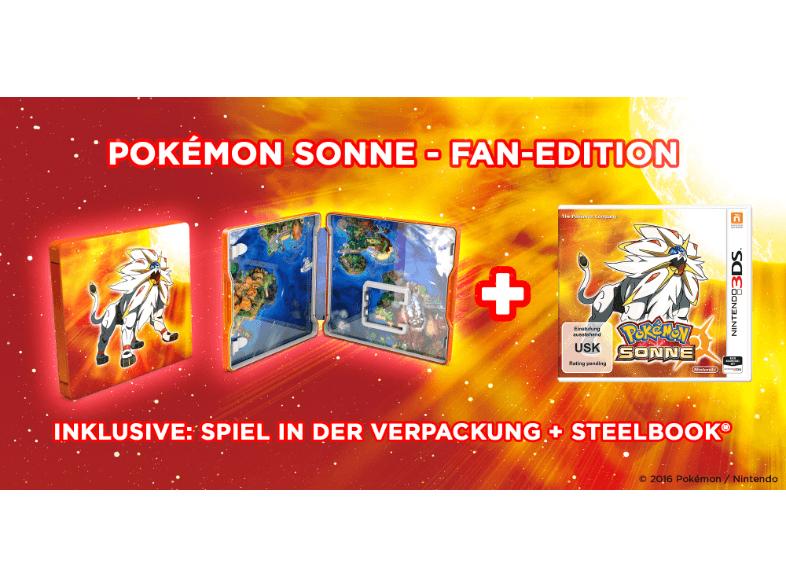 [Saturn.de + Saturn@ebay] Pokémon Sonne oder Mond Fan-Edition mit Steelbook [2DS / 3DS]