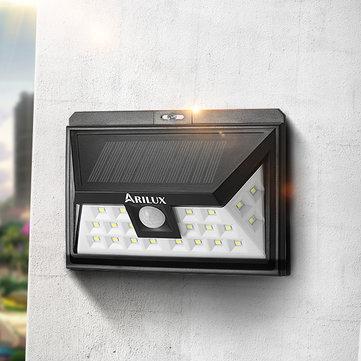[Banggood] ARILUX® AL-SL09 Solar Wandleuchte mit Bewegungsmelder für 12.2€