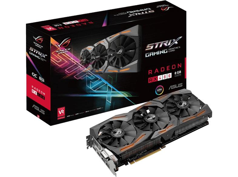 [Mediamarkt Österreich] ASUS ROG Strix Radeon RX 480 OC, STRIX-RX480-O8G-GAMING, 8GB GDDR5 (90YV09K0-M0NA00) für 199,-€ inc. Versand