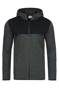 JACK & JONES Tech JJTRICH Sweat Zip Hood Herren Sweat-Jacke Grau 12116112
