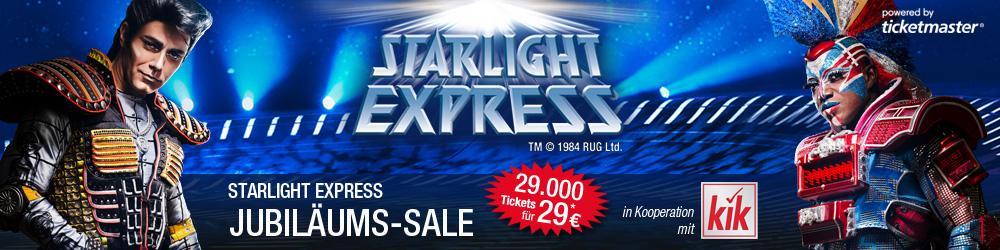 Jubiläumssale beim STARLIGHT EXPRESS - Ticket P2 für 29€ / P1 für 58€