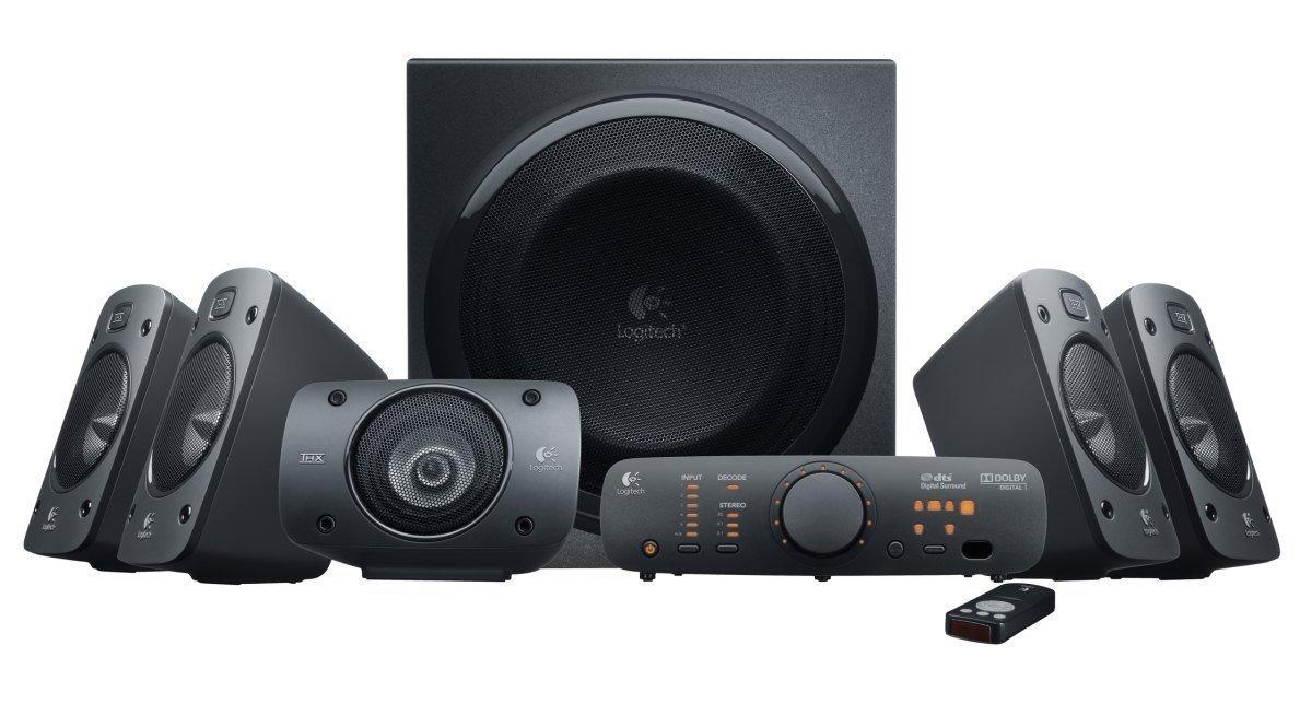 [Amazon] Logitech Z906 3D-Stereo-Lautsprecher THX (Dolby 5.1-Surround-Sound und 500 Watt) für 159,99€ (PVG 249€)