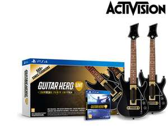 [Ibood] Guitar Hero Live SPE mit 2 Gitarren-Controllern + 20 € GHTV-Inhalte für 38,90€ inc. Versand