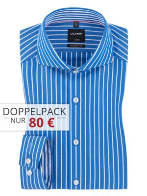 3 x Olymp Hemden Luxor Modern Fit 110 €, pro Hemd 36,66 € inkl. Versand - große Farb und Größenauswahl bei Hirmer