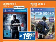 [Expert Bundesweit-Offline] Watch Dogs 2 (Playstation 4) und Uncharted 4-Standard Plus Edition (Playstation 4) für je 19,99€