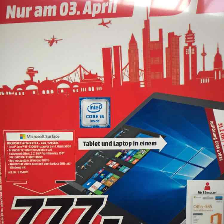 Microsoft Surface Pro4  cr5-00003 Frankfurt/Nordwestzentrum