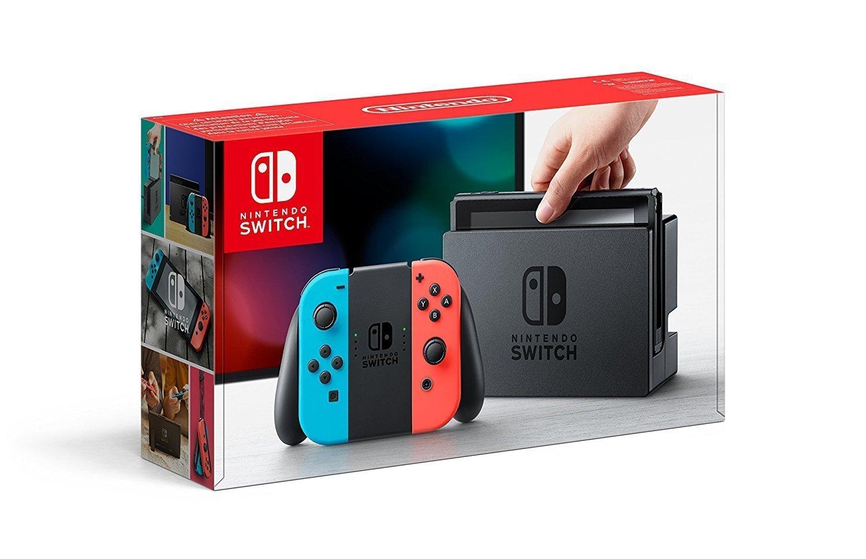 Nintendo Switch Konsole Neon-Rot/Neon-Blau bei Amazon.de für 309,43 € - Lieferdatum unbekannt