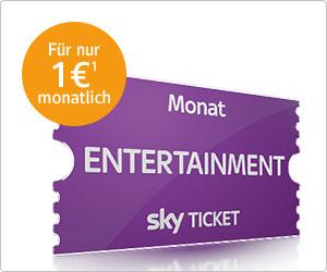 1 Monat Sky Ticket Entertainment für 1€ und dazu 1000 Web.Cent(10€) oder 1500 Web.Cent(15€) für kostenlose Club Mithliedschaft