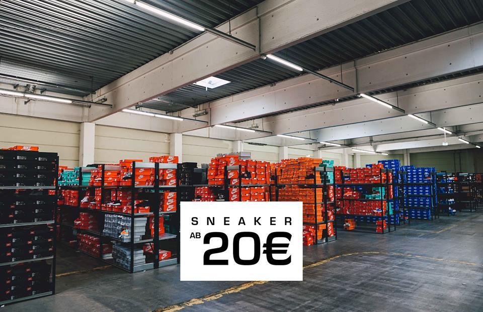 [Köln] Snipes Lager Blowout vom 10.04. - 15.04.17 - bis zu 70% Rabatt
