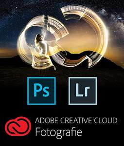 Adobe Creative Cloud Fotografie (Photoshop CC + Lightroom) Mac & PC Download, 111,99 EUR oder 95 Euro in UK;  PVG: 131,99