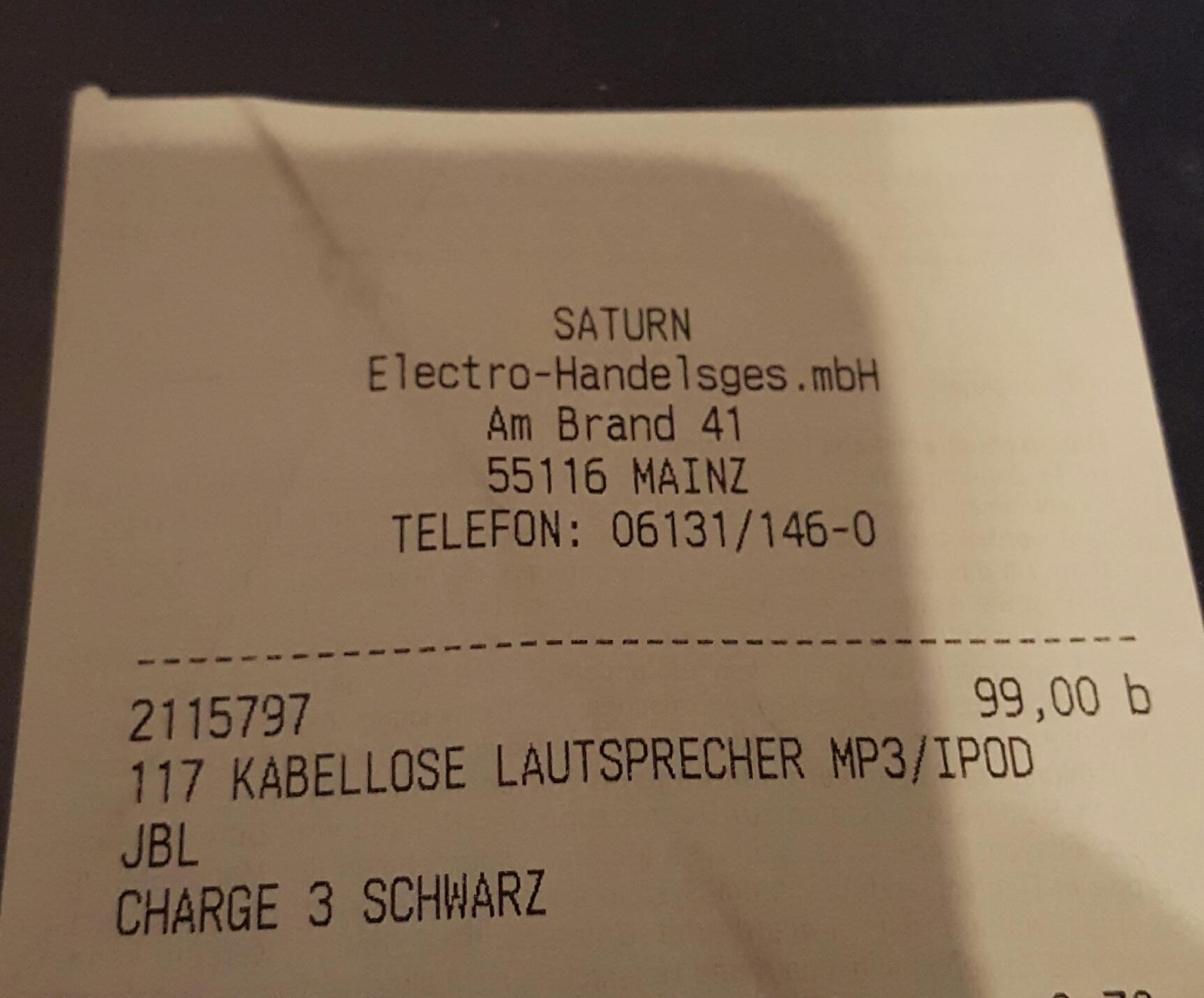 JBL Charge 3 im Saturn Mainz