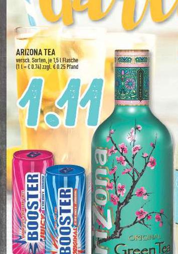 [EDEKA lokal???] Arizona Tea 1,5L für 1,11€ bis 08.04.2017