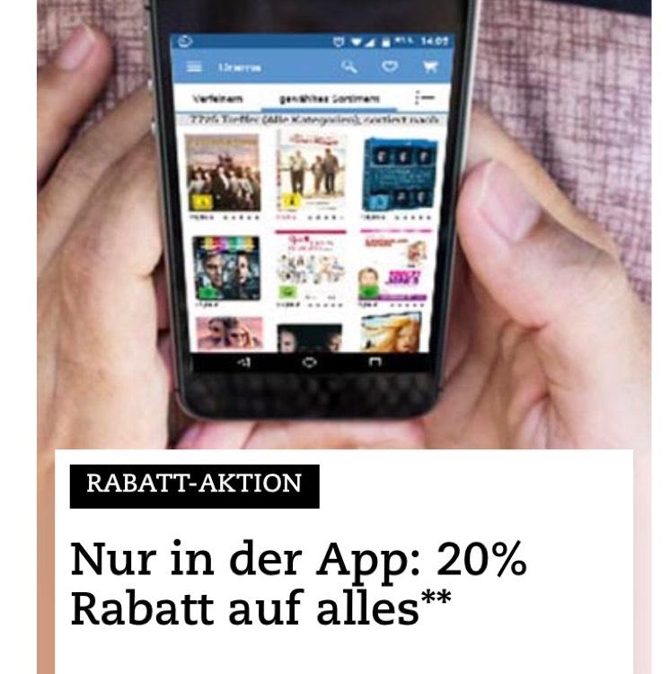 20 % auf Filme, Musik, Spielwaren ...bei Thalia [Thalia App]