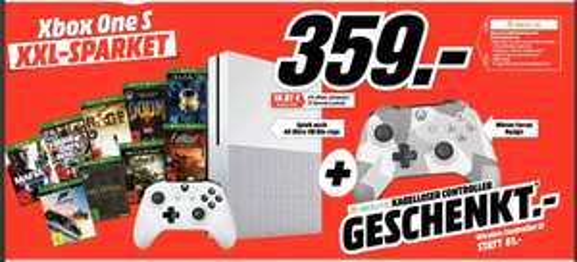 [Mediamarkt] XboX One S 500GB inc.9 Spielen + 2.Controller..Winter Design für 359€**Gameaktion beendet!