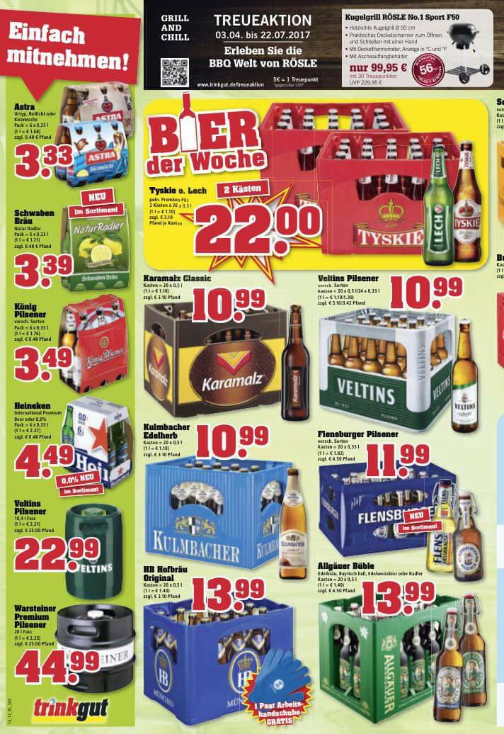 TYSKIE Bier @trinkgut 22€/2 Kisten