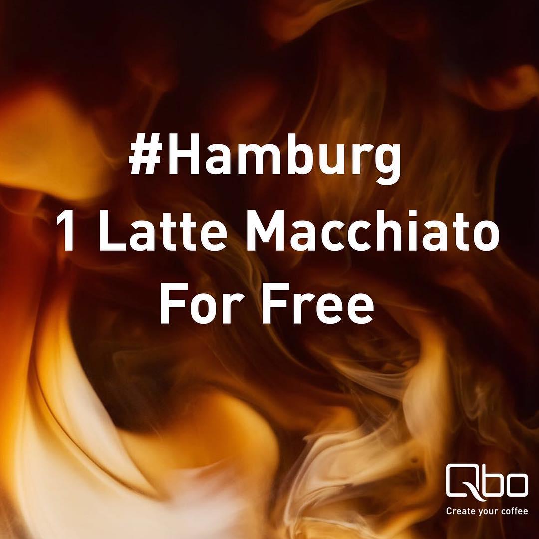 Qbo: Kostenloser Latte Macchiato in Berlin oder Hamburg