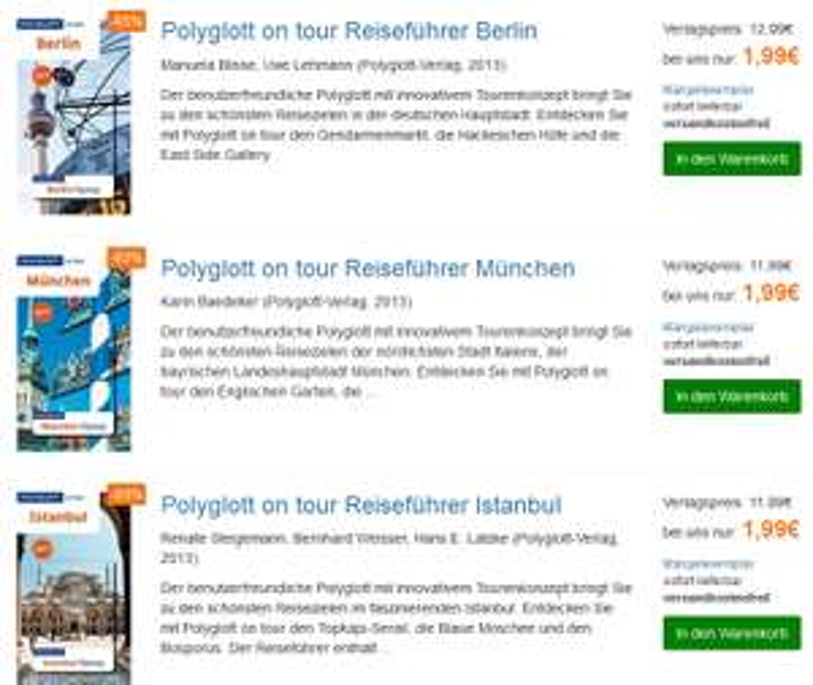 (terrashop.de) Reiseführer ab 1,99€ - Portofrei