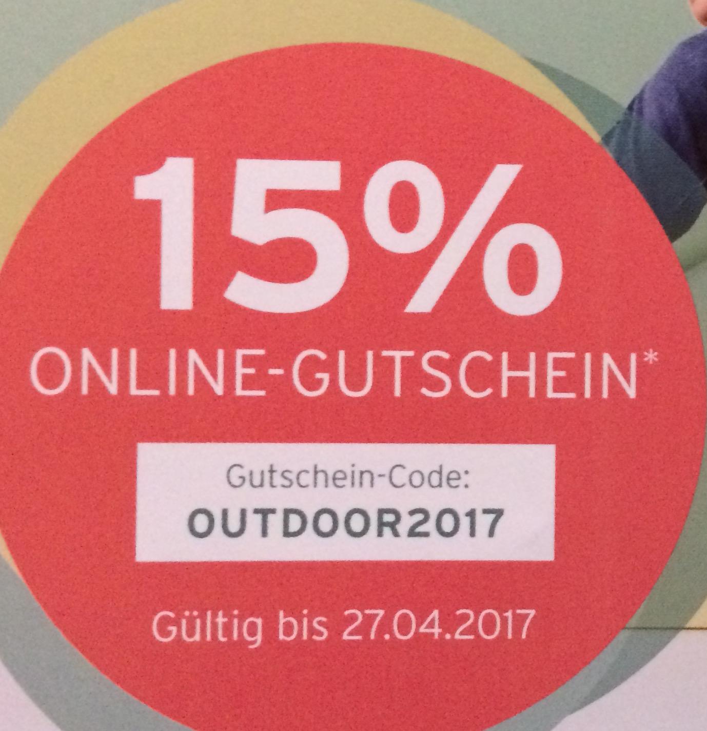[tchibo online only] 15 % Gutschein - OUTDOOR2017
