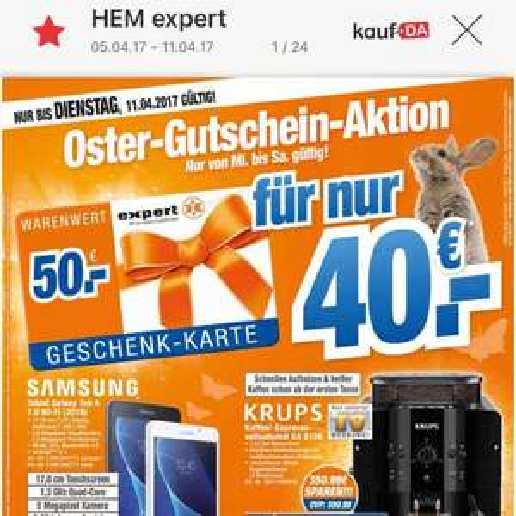 Expert Gutschein (50€) für 40€ bis Samstag