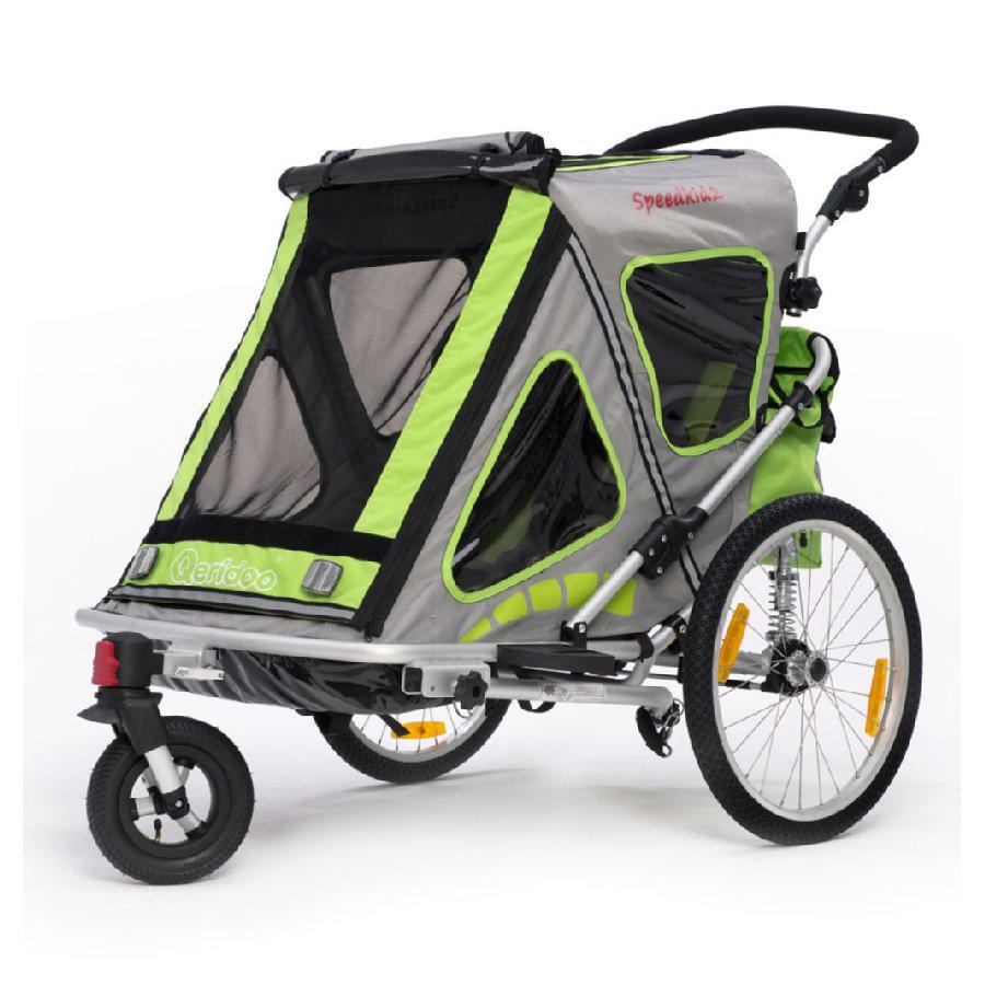 Kinderfahrradanhänger Qeridoo Speedkid2 in grün oder lila für 296,91€ bei [Babymarkt]