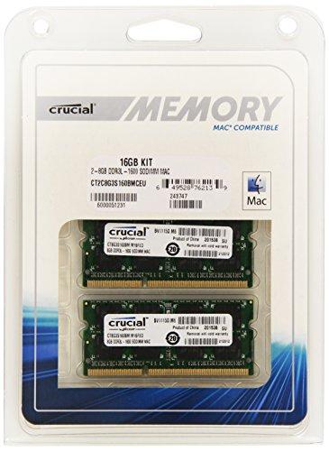 Crucial 16GB RAM Kit PRICEDROP! RAM Upgrade für iMac, Macbook