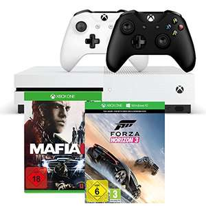XBOX One S 500 GB + Forza Horizon 3 + Mafia III + 2. XBOX Wireless Controller für 269€ zzgl. 5€ Versand [Amazon]