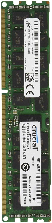 16 GB Crucial CT16G3ERSLD4160B | ECC PC3L-12800R (DDR3-1600) | / Idealo 160€