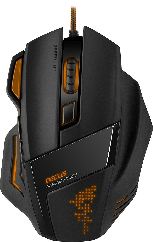 Speedlink Decus Gaming Maus - Limited Amazon Edition (5000dpi, 7 programmierbare Tasten, LED-Beleuchtung) orange-schwarz