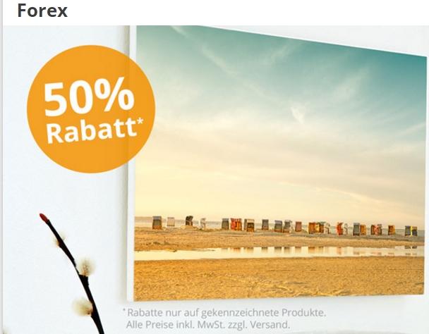 PosterXXL - 50% Rabatt auf Forex-Drucke + 15€ ab 50€ MBW