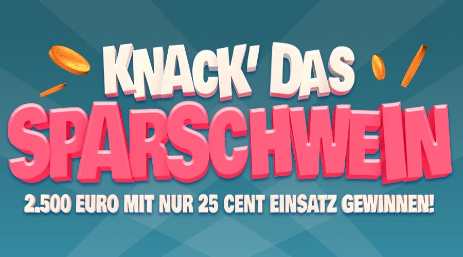 """LottoPalace: 160 Rubbellose """"Knack das Sparschwein"""" für 20,80 €"""