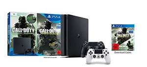 [Amazon] PlayStation 4 - Konsole Slim (1TB, schwarz) inkl. Call of Duty: Infinite Warfare Legacy Edition (Code) & 2 DualShock 4 Wireless Controller (weiß + schwarz) für 304,97