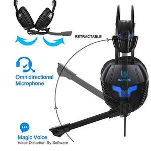 Amazon Prime Angebot: KingTop PS4 Gaming Headset K11 Stereo Kopfhörer mit Mikrofon für PS4 Xbox One PC Laptop