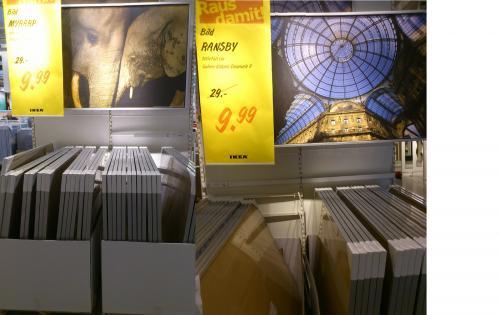 Lokal: IKEA Leipzig/Halle (Nova Eventis)  Bild mit Rahmen 100x140cm  9,99€