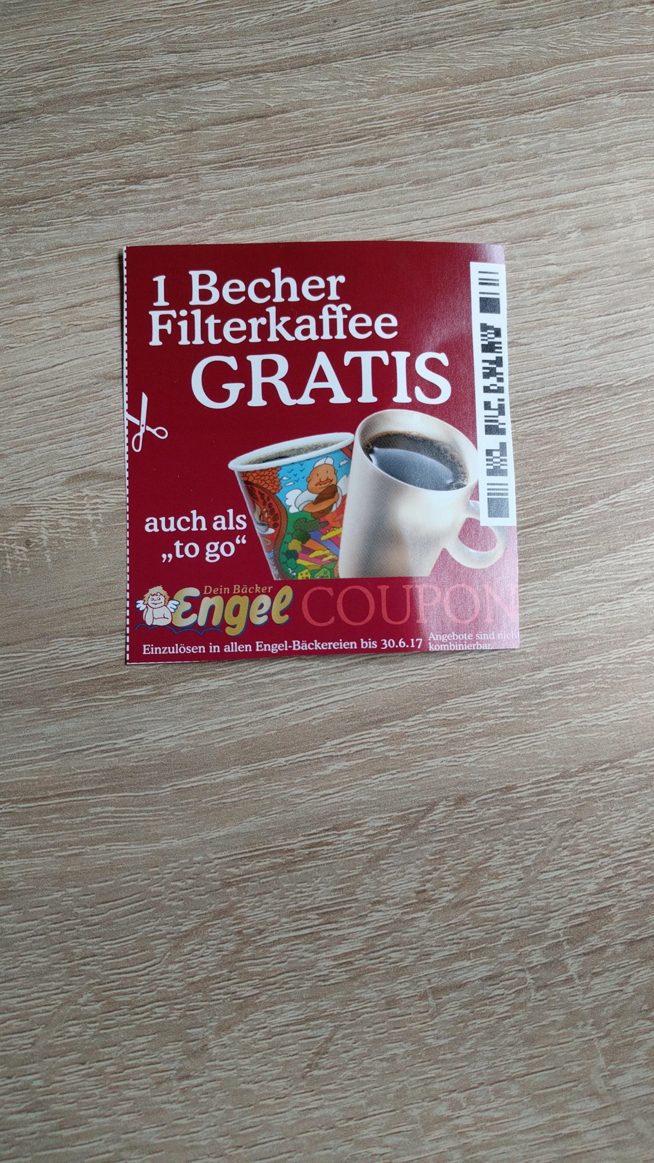 [LOKAL] GRATIS Kaffee bei Bäckerei Engel