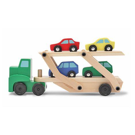 Autotransporter mit vier Autos aus Holz von Melissa & Doug für 11,94€ inkl. VSK bei [babywalz]