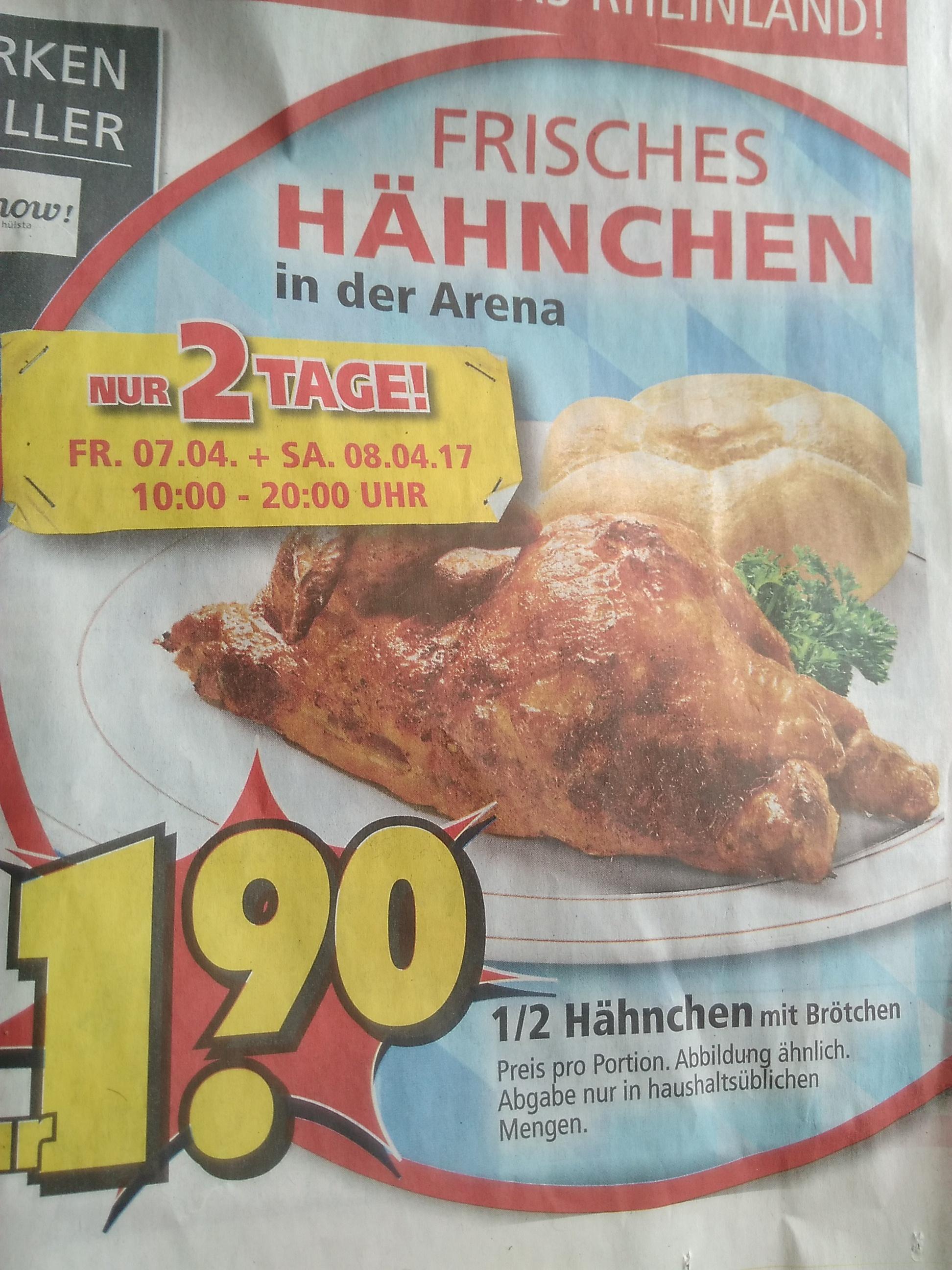 ( Pulheim bei Köln ) Halbes Hähnchen mit Brötchen für 1,90€ plus nette Abendangebote