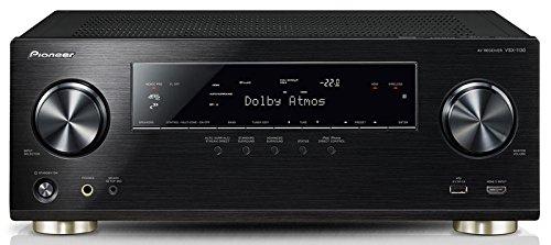 Pioneer VSX-1130-K 7.2 Netzwerk-Mehrkanal Receiver (Aluminium-Front, 165 Watt Pro Kanal, Dolby Atmos, WiFi, Bluetooth, Ultra-HD Video Scaler, HDCP 2.2, App Steuerung, Airplay, DLNA, Spotify Connect) schwarz  // idealo 455 €€