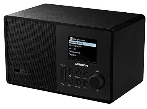 MEDION MD 87540 Internetradio mit Fernbedienung, 2,4 Zoll TFT Farb-Display, 40 Speicherplätze für 69,99€ [Amazon]