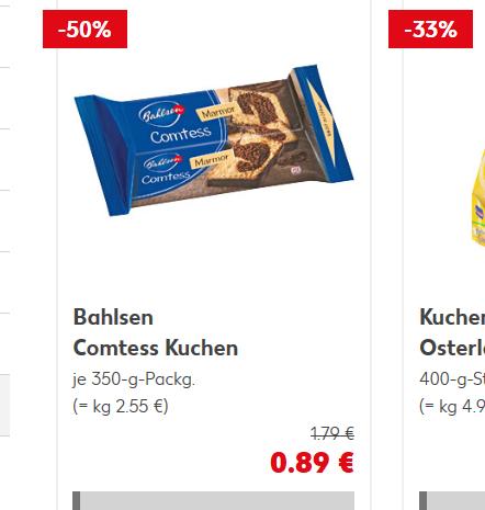 Kaufland  Bahlsen Comtess Kuchen  Zitrone 350-g-Packg Angebot + Coupon