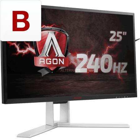 ZackZack Angebot: AOC AGON AG251FZ 24,5 Zoll eSports Monitor 1 x DVI, 2 x HDMI, 1 x Displayport, 4 x USB 3.0, 1920x1080, 240 Hz, 1ms, FreeSync schwarz/rot