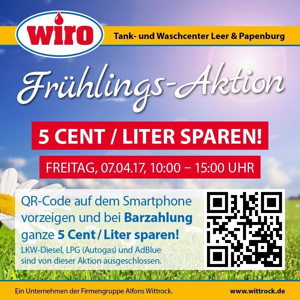 5 Cent pro Liter sparen bei Wiro in Leer und Papenburg