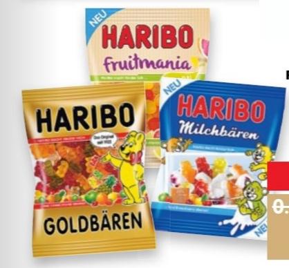 [Kaufland] Haribo Fruchtgummis oder Lakritz versch. Sorten je 175-200g für 0,59€