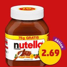 [Penny] Nutella 825g Glas für 2,69€