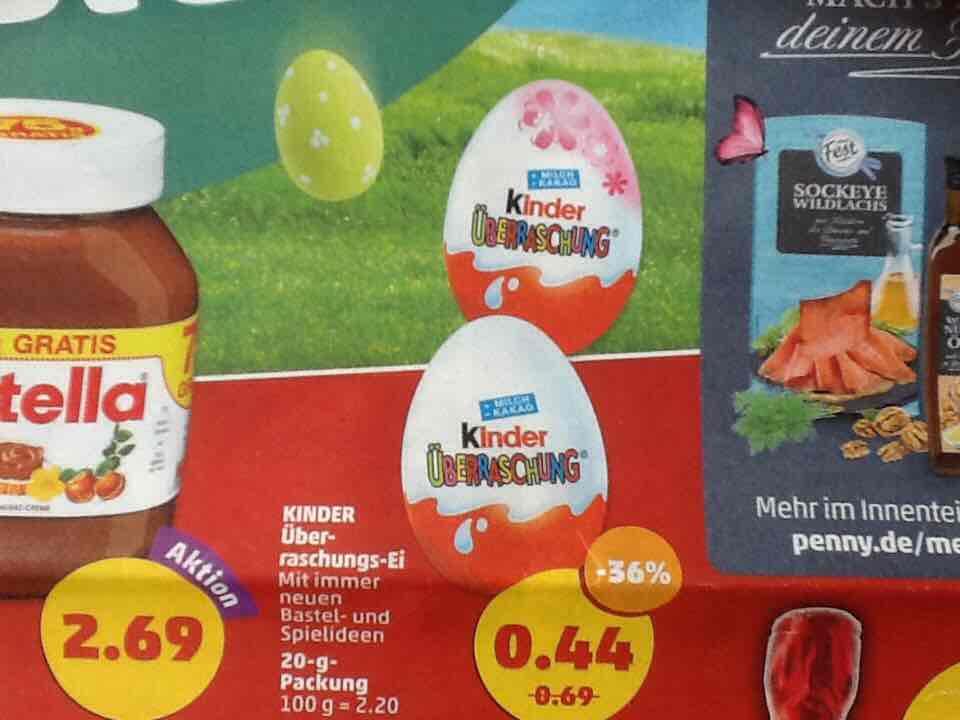 [Penny] Kinder Überraschungs Ei für 44 Cent ab 10.4.