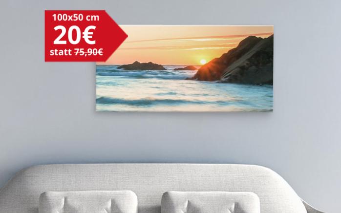 Große Panorama-Leinwand 100cm x 50cm für 20€ + 6,90€ Vsk [Meinfoto]