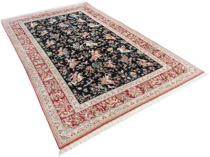 Orient-Teppich, Parwis, »Ghom Seide«, handgeknüpft, echt Seide, 1.000.000 Knoten/m² [OTTO]