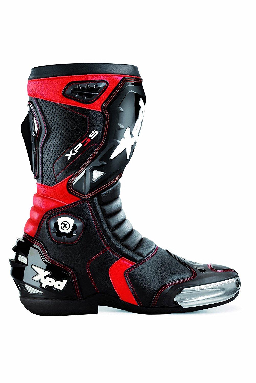 XPD Motorradstiefel XP3-S, Schwarz/Rot, 40   WHD  sehr gut  // Idealo 189€